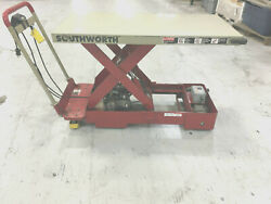 Southworth Lift Table 1100 Lbs Portable Hydraulic Lift Table