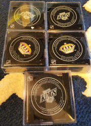 2016-17 Sherwood Los Angeles Kings Legends And Opening Night Game Puck Set Of 10