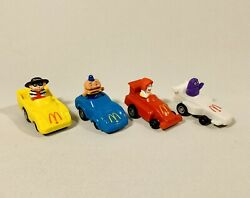 Mcdonaldandrsquos Turbomacs Pull-back Cars Happy Meal Toys Complete Canadian Set 1988