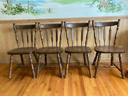 Vintage Farmhouse Dining Chairs Made In Yugoslavia 1979 Cottage Style Rare