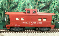American Flyer Lines 1953-1957 930 Lighted Caboose...very Clean.light Works