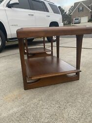 Pair End Tables By Lane Furniture Pearsall Style Mid-century Vintage Atomic Age