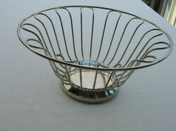 Vintage Silver Plated Wire Bread Basket 11 X 6 Very Nice
