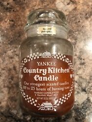 Spiced Pumpkin Yankee Candle Company Large Jar White Print Country Kitchen Label