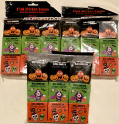 Mini Sticker Boxes, Halloween, Trick Or Treat Party Supplies Lot Of 54 Boxes New