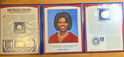 Michelle Obama First Lady 1st Barack Pcs Stamps And Coins Collection United States
