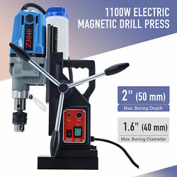 Electric Magnetic Drill Press Max 1.6 Dia 2 Depth Magnet Force Tapping 1.5hp