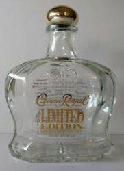 Crown Royal Limited Edition 750 Ml Canadian Whiskey Empty Bottle Collectible