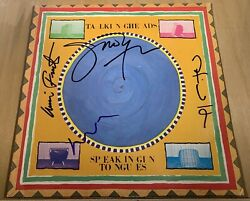 Talking Heads Signed Lp Speaking In Tongues X4 David Byrne Tina Chris Jerry Rare