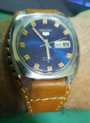 Seiko 6119-7103 Blue Dial Beads Of Rice Good Condition Ultra Rare 03-1971andnbsp