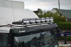 Roof Bar + Spots + Air Horn + Beacon For Scania 4 Series Low Day Truck Stainless