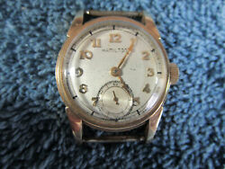 Hamilton 10k Gold Filled Watch Small Second Hand Windup Vintage 160-7r