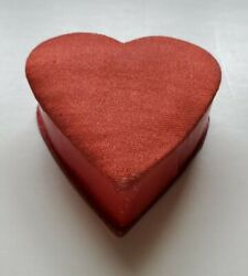 Vintage Valentine Miniature Candy/ Jewelry Heart Box With Padded Top