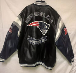 Nfl New England Patriots Faux Leather Jacket 5xl Preowned