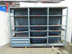 Modular Pull Out Tool And Die Storage Racks W/shelves And Drawers 123x87x21-3/4