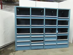 Modular 23 Drawer Small Parts Tool And Die Storage Cabinet 117-1/4x87x27-3/4