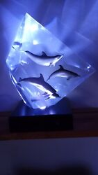 Rare Wyland Faster Higher Stronger Lucite Sculpture Beijing 2008 Olympic 32