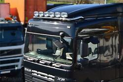 Roof Bar + Spots + Air Horns + Beacon For Daf Xf 106 Space 2013+ Truck Stainless