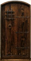 Rustic Reclaimed Lumber Arched Door Solid Wood Story Book Castle + Window