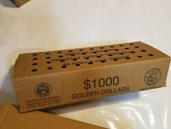 Sealed Box 1000 Mixed Circulated One Dollar Coins 40 Rolls Presidential Sba