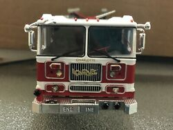 Custom Made Fire Truck 1/43 Scale Charlotte Fire Dept With Lights And Siren