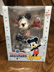 2010 Disney Mlb National League All Star Mickey Mouse Figurine Statue Rare - New