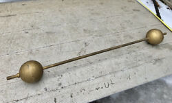 Antique Gold 120 Lb Barbell Vintage Attention Collectors Chicago Pick Up