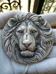 High Relief Silver Medal Lion 14 Oz 395-420g .999 Silver Only 66 In The World