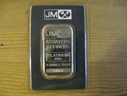 Rare 1 Oz Johnson And Matthey Platinum Bar - W/ Low Serial A00087 - Sealed