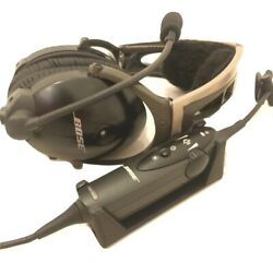 Bose X A10 Aviation Headset Control Cradle 2yr Warranty Includes Mounting Tape