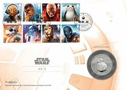 Star Wars Silver Proof Medal Cover Bb-8 Limited Edition