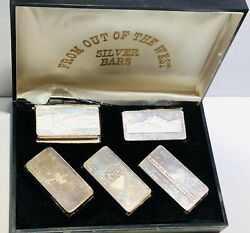 Lot Of 5 Units Of From Out Of The West 3 Ozt Silver Bars With Original Box