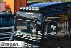 Roof Bar + Leds + Spots + Beacons + Air Horns For Daf Xf 105 Space Truck - Black