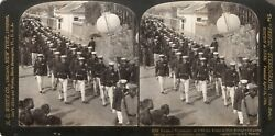 Stereoview Photo.funeral Procession Of Officers Killed At Port Arthur Hiroskima