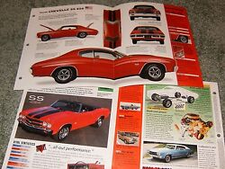 1970 Chevy Chevelle Ss 454 Spec Info Poster Brochure Ad Ss454 Ls6