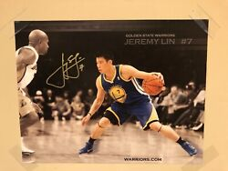 Jeremy Lin Nba Rookie Year Autographed Golden State Warriors Photo
