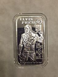 Greathouse Silver Bar Elvis Presley Type2 With Dates Rare Mintage 30 Cancelled