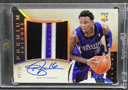 2013-14 Panini Immaculate Premium Patches Auto Rpa /10 Ben Mclemore Rc Kings