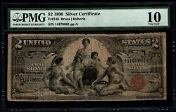 1896 2 Silver Certificate Educational Note Pmg 10 Fr.248 Item 5013849-001
