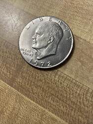 1972 D Eisenhower Ike One 1 Dollar Coin Uncirculated Not Silver