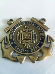 Authentic United States Naval Academy Chiefand039s Mess Challenge Coin