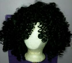 10 Inch Synthetic Afro Kinky Curly Full Head Wigs For Black Women African