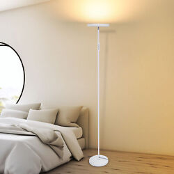 Led Torchiere Floor Lamp Dimmable 30w For Living Room Bedroom Office White