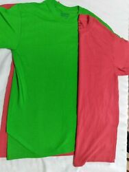 Lot Of 3 - Gildan Dry Blend Adult Unisex T-shirt - Size Small - Red And Green