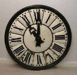 Old Original Enamel Town Hall Clock - Home From Home Store Hf5593