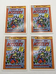 1990 Impel Marvel Universe Series 1 Journey Into Mystery Mvc 128-used Lot Of 4