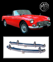 Brand New Mg Mgb Stainless Steel Bumpers