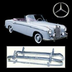 Brand New Mercedes Ponton W180 W128 6 Cyl. Coupe Stainless Steel Bumpers