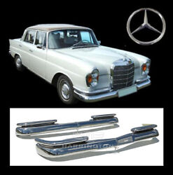 Brand New Mercedes W111 W112 Fintail Saloon Bumpers