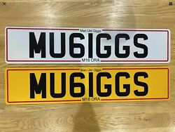 Personalised Manchester United Gifts Ryan Giggs Private Registration Plate